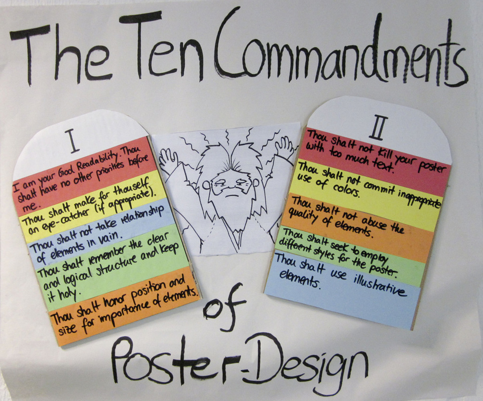 the 10 commandments of poster designing new media in foreign